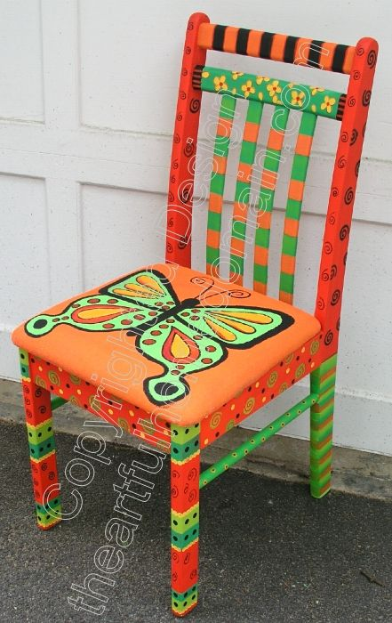 hand painted chairs stools benches seating bemalte. Black Bedroom Furniture Sets. Home Design Ideas