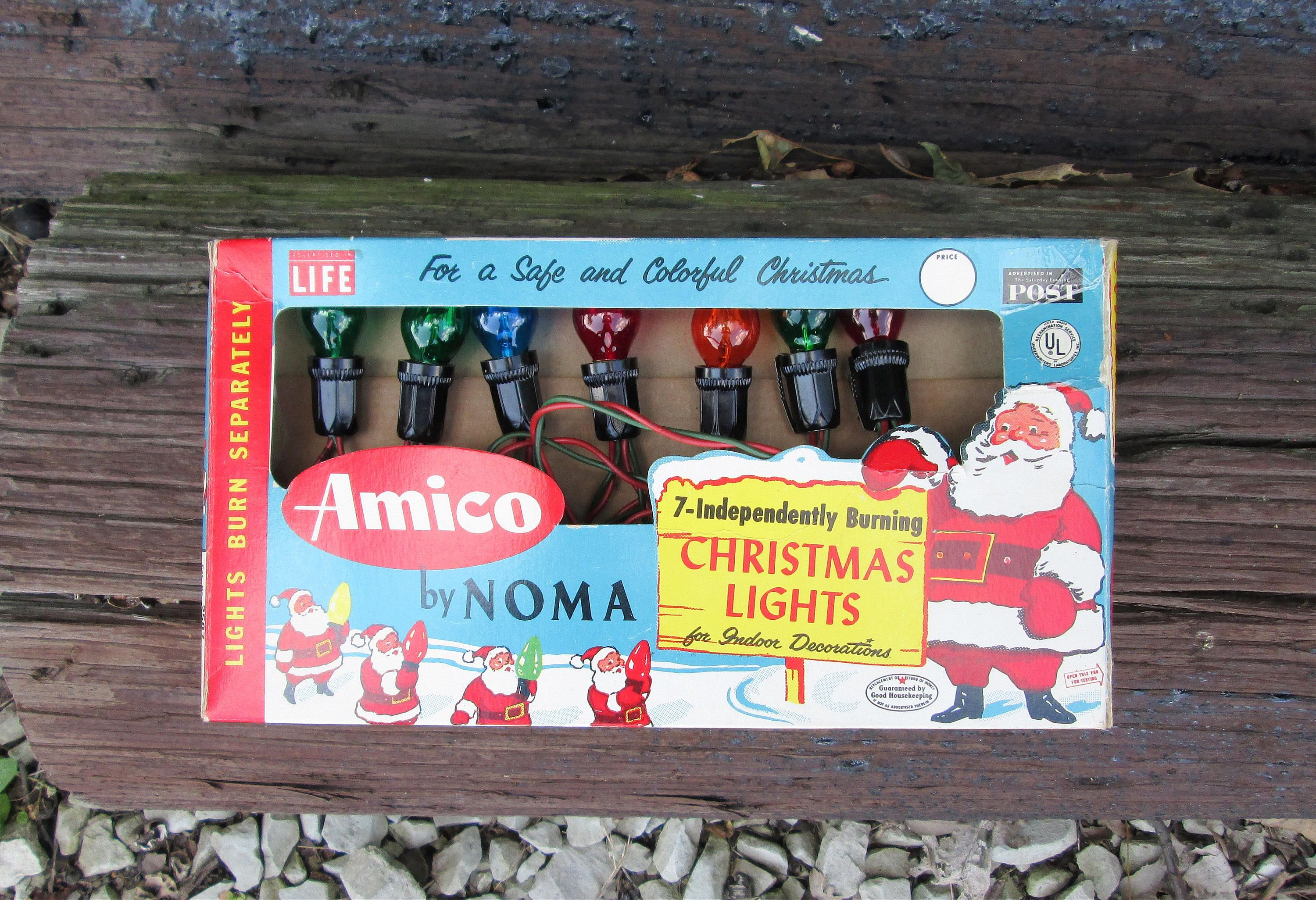 Vintage Amico Christmas Lights by NOMA String of 7 Indoor Lights in ...