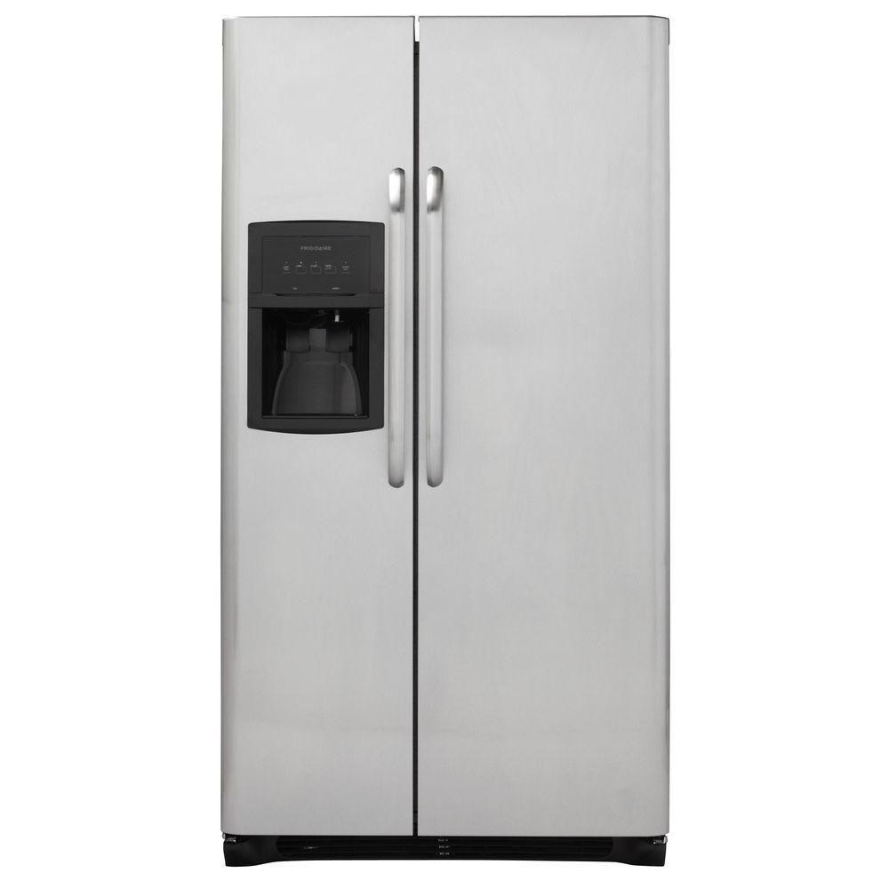 Frigidaire 255 cu ft side by side refrigerator in
