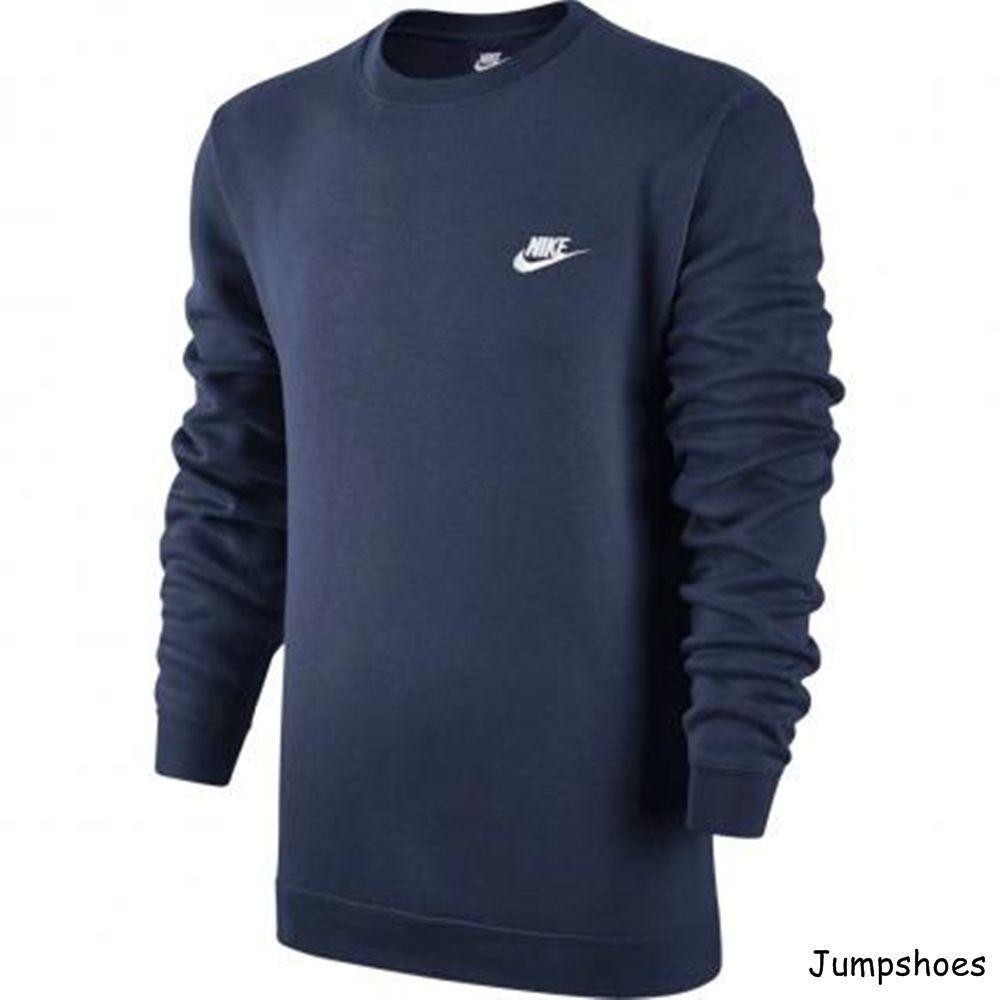 Men S Nike Club Crew Fleece Nike Men Sweatshirt Fleece Mens Sweatshirts [ 1000 x 1000 Pixel ]