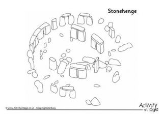 Stonehenge fact sheets, worksheets, and coloring page