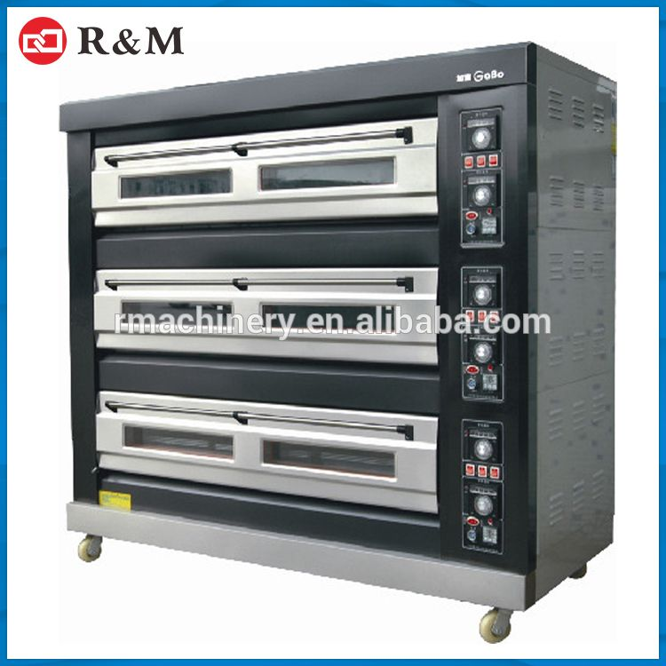 Industrial Commercial Heavy Duty 380v 3 Deck Electric Bakery
