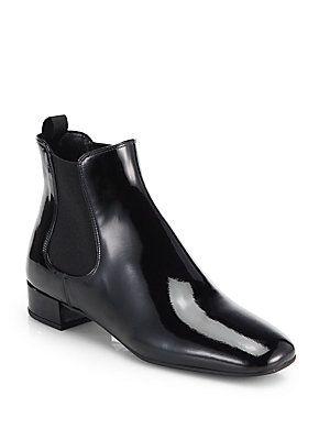 Prada Patent Leather Ankle Boots RGSCI