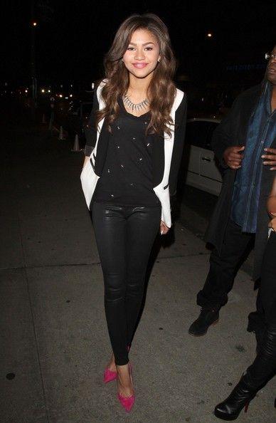 Zendaya Coleman Skinny Pants. Zendaya FashionZendaya StyleMonochrome ...