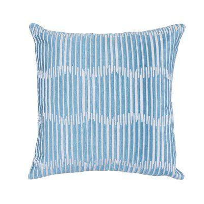 Latitude Run® Petek Cotton Geometric Throw Pillow Color: Blue