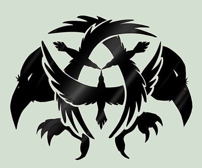 Crow Symbol By Death By Papercuts Design Crows Pinterest