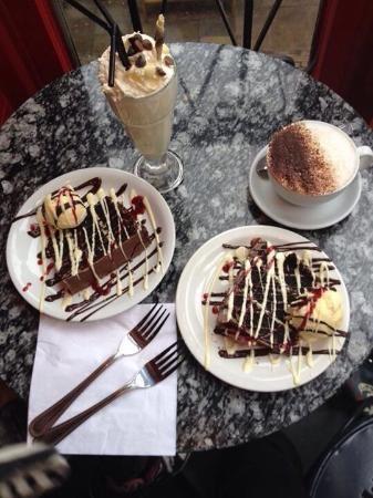 taste chocolate cake & milkshakes (£3) at Choccywoccydoodah, near Oxford Circus / Soho / Regents Street:   30 - 32 Fouberts Place, London W1F7PS, England