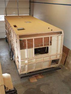 Project Terry Part 2 Demolition And Frame Repair Rv Magazine Vintage Trailer Remodel Remodeled Campers Camper Trailer Remodel