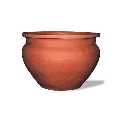 Amedeo Design Bell Jar Resin Stone Urn Planter Color: Terra Cotta, Drain Hole: No Drain Hole