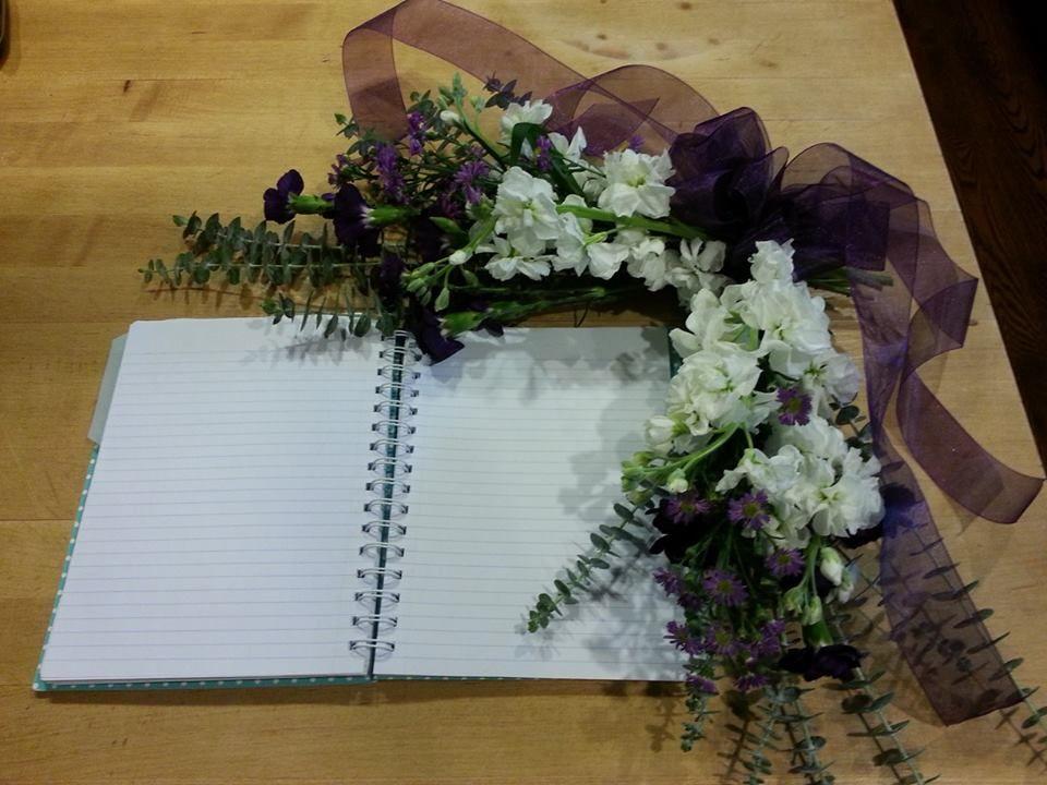 Guest book floral