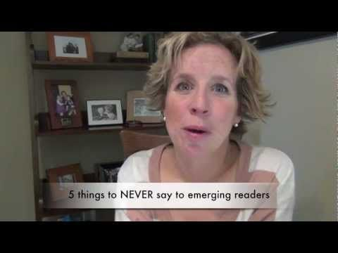 What not to say to emerging readers