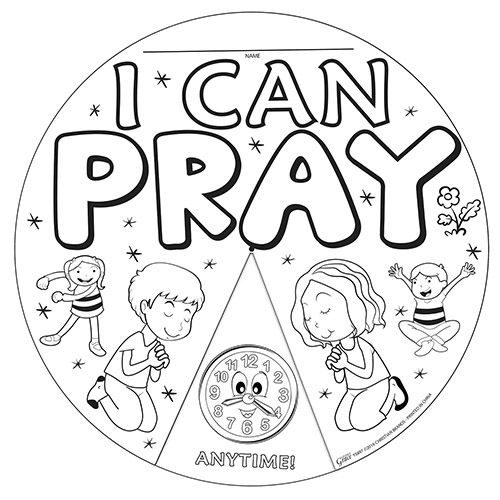 I Can Pray When... Color Your Own Wheel - 24/pk