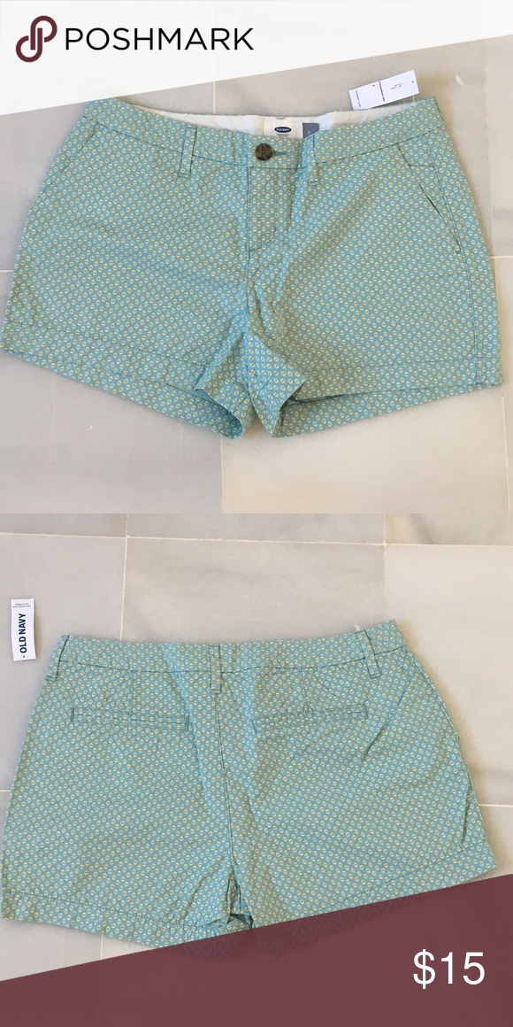 """🎉Spring break sale 🎉 old navy twill shorts NWT Old Navy everyday twill shorts in a green floral pattern. 3.5"""" inseam Old Navy Shorts Cargos"""