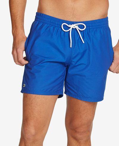 0f44cf0b1691 Lacoste Men s Basic Swim Trunks - Swimwear - Men - Macy s
