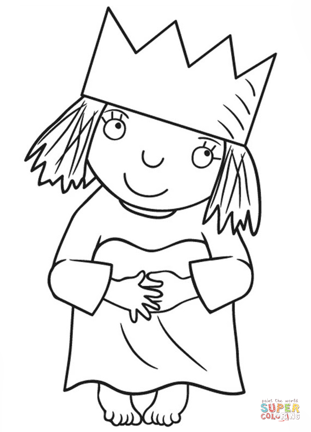 Little Princess Coloring Page Free Printable Coloring Pages Princess Coloring Pages Princess Coloring Peppa Pig Coloring Pages