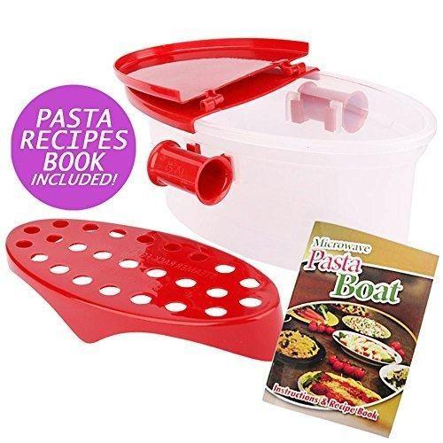 Hot Pasta Boat Versatile Microwave Pasta Cooker Vegetable Steamer