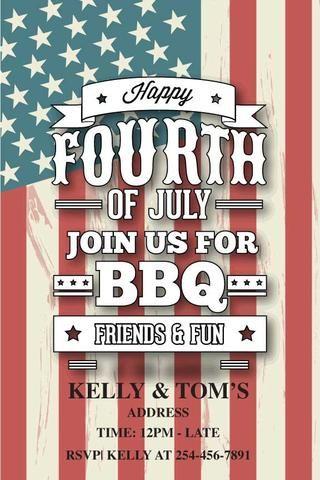 Stars N Stripes Printable Invitation Templates Printable Invitations Party Invite Template