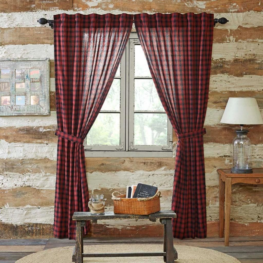 Country Plaid Curtains | Panel Curtains