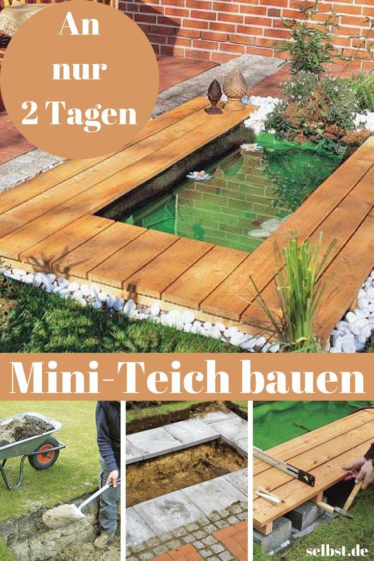 Mini-Teich | selbst.de #kleinegärten