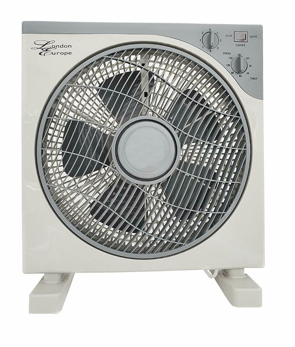 """Details about 12"""" BOX FAN LARGE SQUARE COOLING FLOOR"""