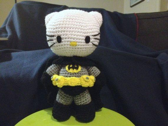 """10.5"""" Crochet Bat Kitty Amigurumi Doll PATTERN Åååh den må jeg lære og lave.. Skal Så meget blive god til at hækle"""
