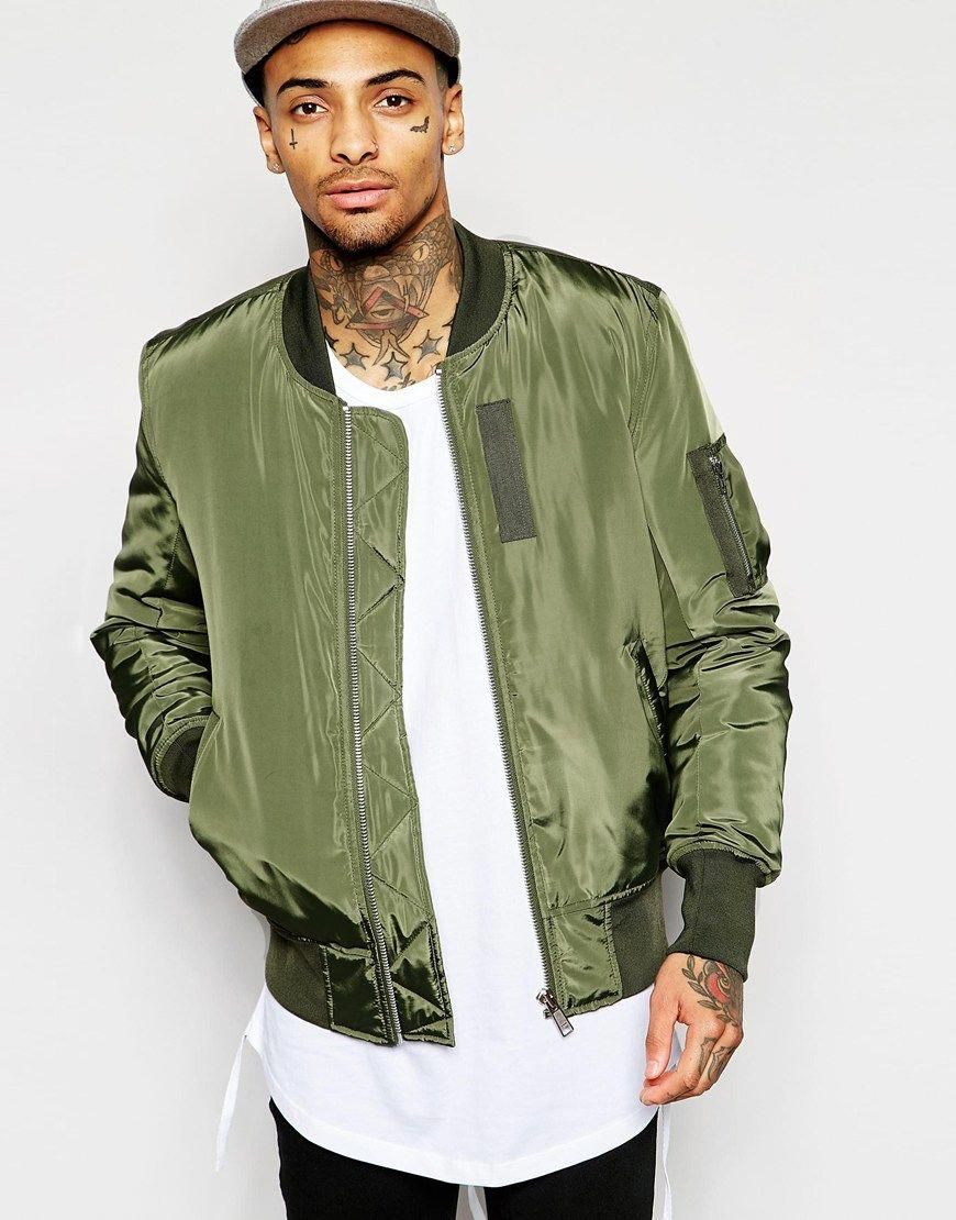 leatherjacketsformengreen Bomber jacket men, Bomber