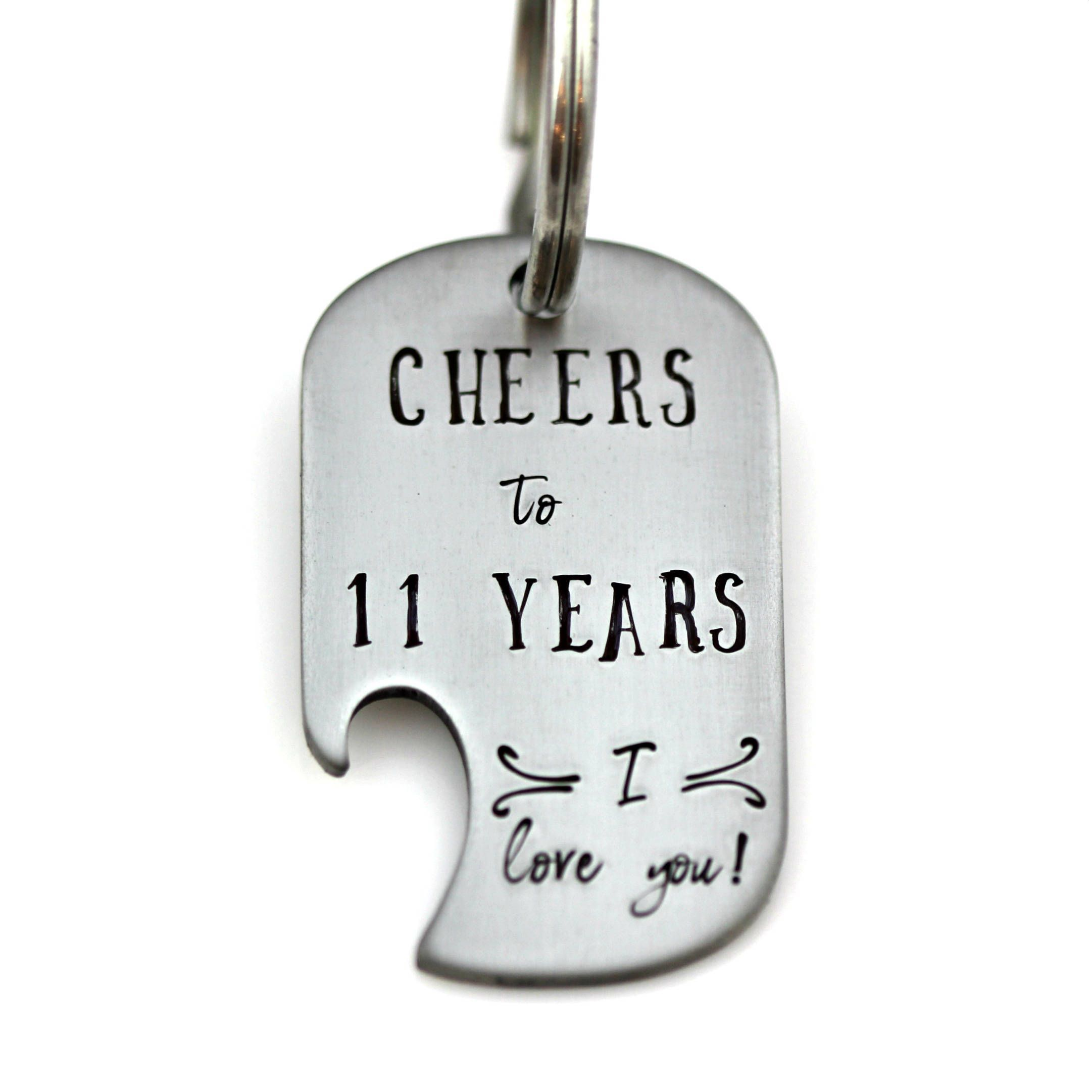 Celebrate With Traditional Stainless Steel For Your 11 Year Anniversary With This Hand 11 Year Anniversary 11th Anniversary Gifts Anniversary Gifts For Husband