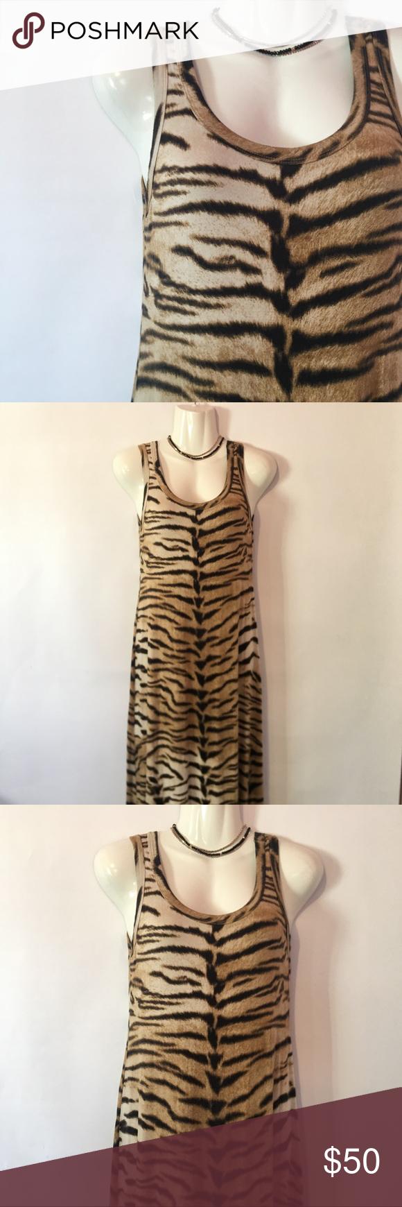 Karen Kane Tiger Print Maxi Dress Printed Maxi Dress Karen Kane Dress Tiger Print [ 1740 x 580 Pixel ]