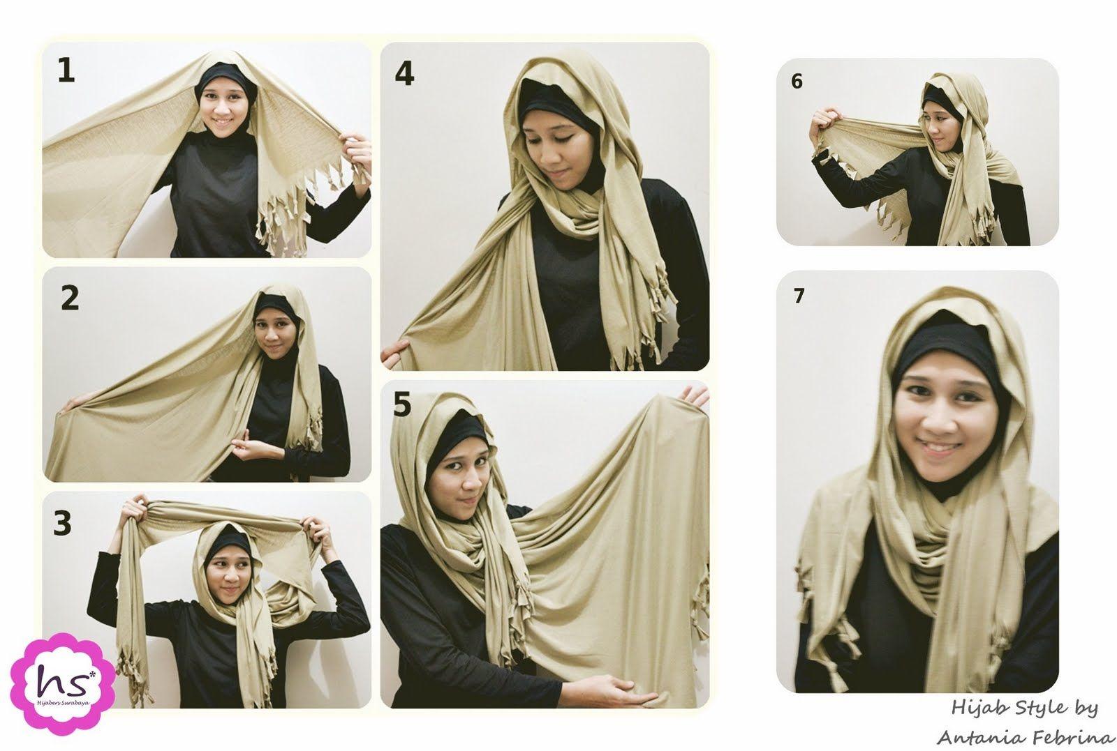 Hijab Kerudung Jilbab Tutorial For Beginners Hijab Style Tutorial
