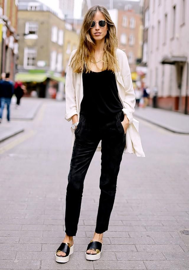 a737d8b3c7ec Fall   Winter Outfit Idea  Amazing black velvet jumpsuit paired with a  lightweight jacket