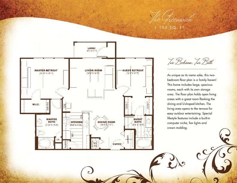 Two Bedroom Luxury Apartments Homes In Brandon Florida The Addison Apartments Homes 813 681 72 Two Bedroom Floor Plan Luxurious Bedrooms Luxury Apartments