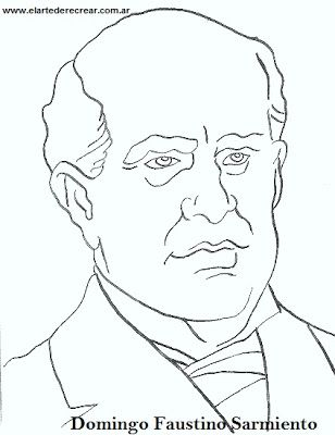 Dibujos de Domingo Faustino Sarmiento para colorear o pintar ...