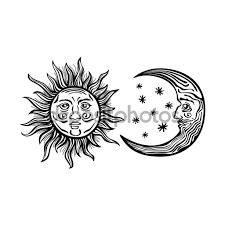 Resultado De Imagen Para Sol Y Luna Vintage Cartoon Illustration Anthropomorphic Moon Cartoon