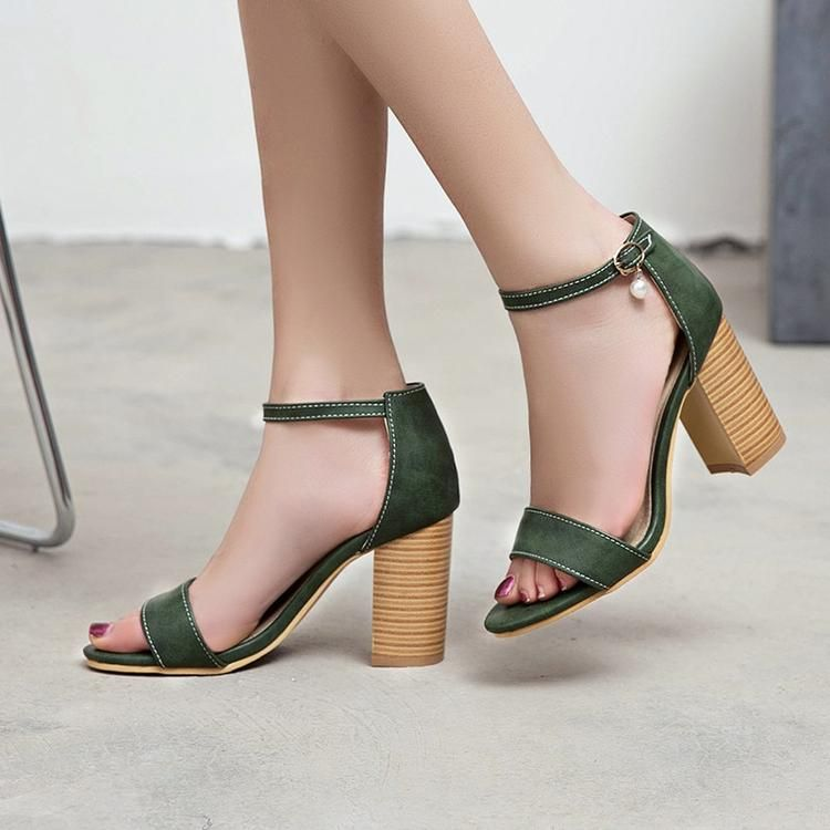 265d7ea1f3b High Heel Sandals With Ankle Strap-ankle sandals-Vinny s Digital Emporium