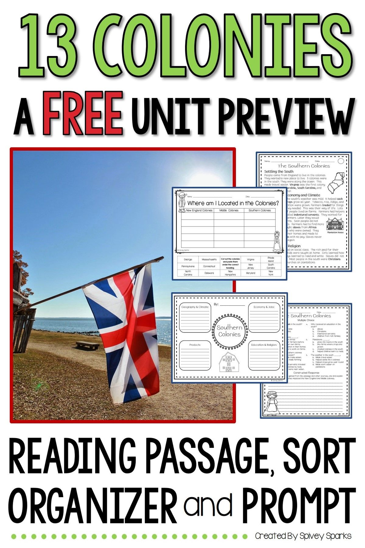 13 Colonies Unit Preview Free In