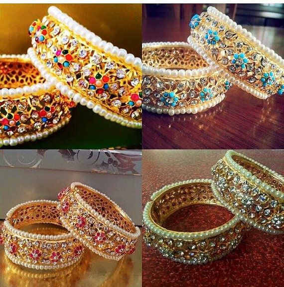 18793b5b2f7ab Stunning Hyderabadi Cuff | Pakistani / Indian Jewelry | | JEWELRY ...