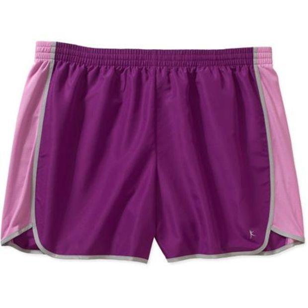 025d17ea8bd Danskin Now Women s Plus-Size Basic Woven Short - Walmart.com ...