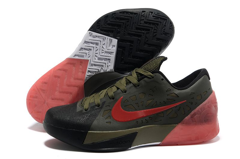 Nike Zoom KD 6 Black Army Green Red Shoes New arrival. This is the best  sale kd 6 shoes on our store. Buy now!
