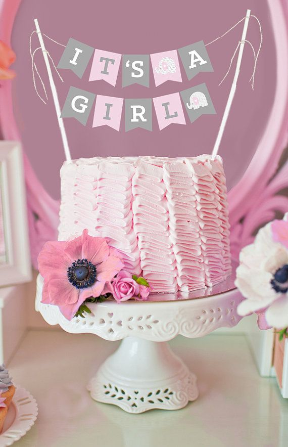 Good Pink Owl Baby Shower Cake Topper Decorations Are An Adorable Decor Item For  Your Baby Shower Cake! Its A Girl Cake Banners Are A MINI Size To Fit On Top