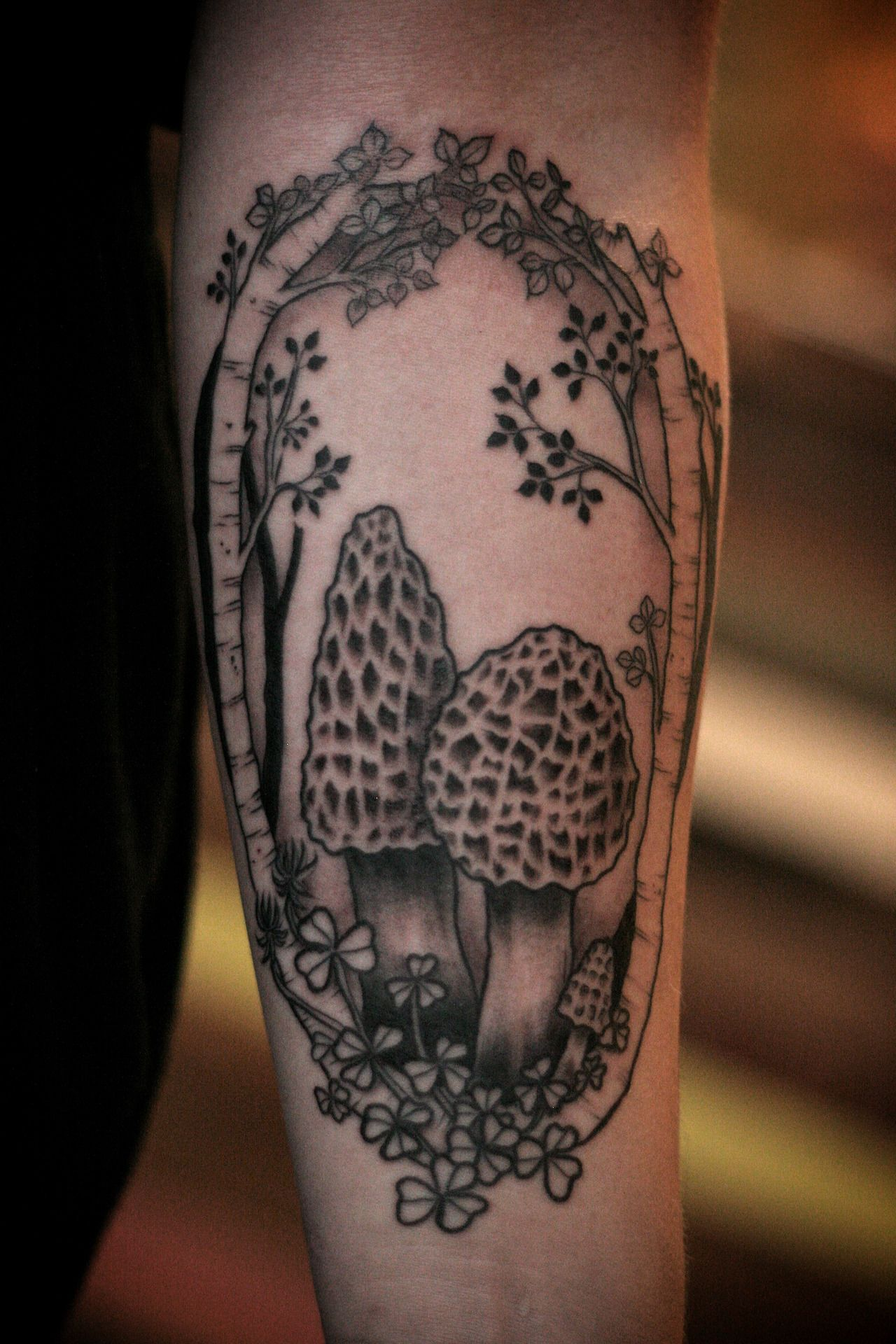 Morel mushrooms tattoo by Alice Carrier. Portland, OR   Tattoos ...