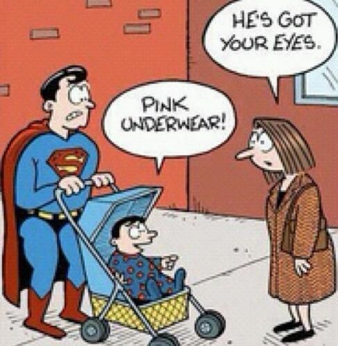 x-ray vision is hereditary. lol