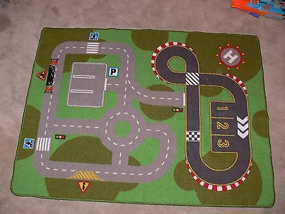 Ikea Lillabo Kids Road City Car Truck Toy Floor Mat Play Rug 39 X 52
