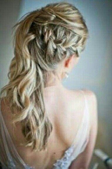 Brautfrisur Seitlich Geflochten Hair Hair Styles Hair Und