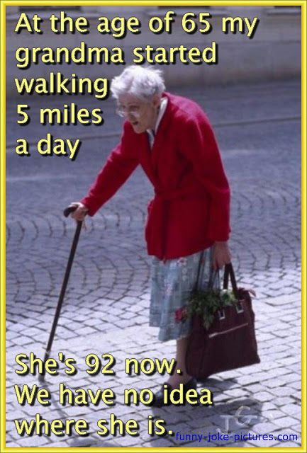 Funny Walking Grandma Missing Meme Funny Quotes Best Funny
