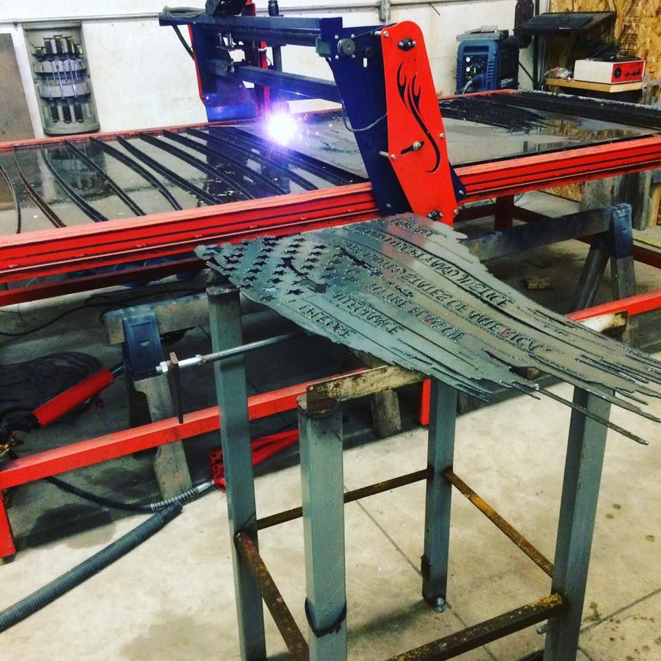 Burntables Cnc Plasma Table Cutting An American Flag With