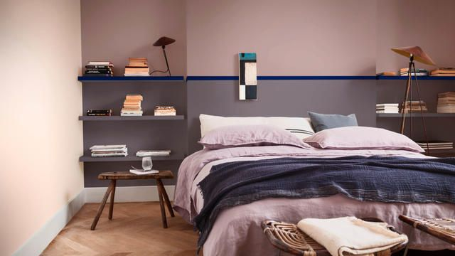 Een slaapkamer in weldadige kleuren farbe des jahres 2018 heart
