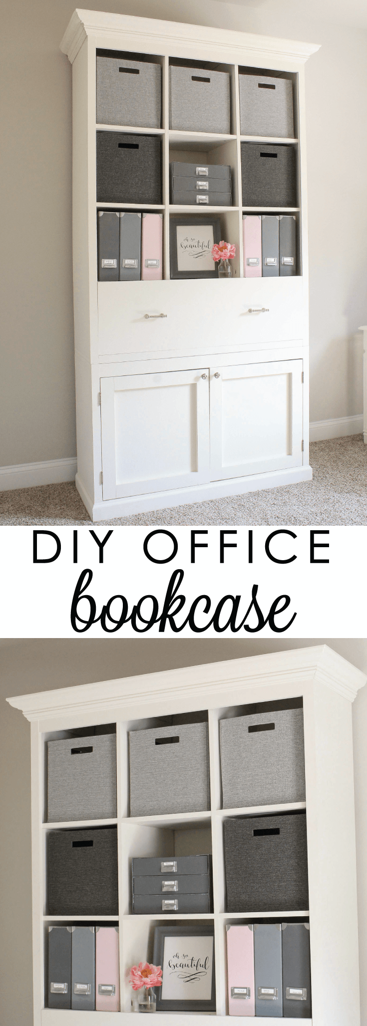 DIY Office Storage Cabinet Bookcase   Storage cabinets, Storage and ...