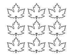Printable small maple leaf pattern use the pattern for crafts printable small maple leaf pattern use the pattern for crafts creating stencils scrapbooking pronofoot35fo Image collections