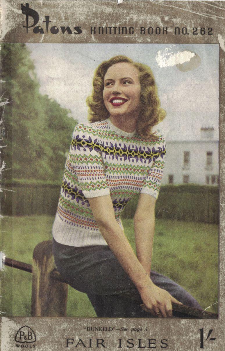 The Vintage Pattern Files: Free 1940s Knitting Pattern - Women\'s ...