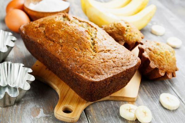 receta de pan de platano bajo en calorias